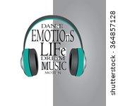 vector illustration earphone... | Shutterstock .eps vector #364857128