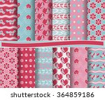 set of abstract vector paper... | Shutterstock .eps vector #364859186