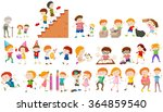 children doing different... | Shutterstock .eps vector #364859540