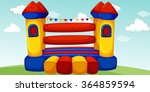 playhouse in the field... | Shutterstock .eps vector #364859594