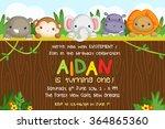 safari animal card | Shutterstock .eps vector #364865360