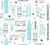 vector london streets hand... | Shutterstock .eps vector #364866314