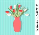 vase of flowers flat icon vase...   Shutterstock .eps vector #364872929