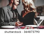 beautiful young couple with... | Shutterstock . vector #364873790