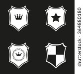 shield  icon  on black... | Shutterstock .eps vector #364880180