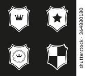 shield  icon  on black... | Shutterstock .eps vector #364880180