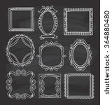vintage photo frame in doodle... | Shutterstock .eps vector #364880480