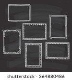 vintage photo frame in doodle... | Shutterstock .eps vector #364880486