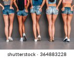 hands in pockets. close up rear ... | Shutterstock . vector #364883228