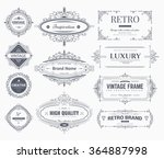 collection of vintage... | Shutterstock .eps vector #364887998