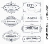 collection of vintage...   Shutterstock .eps vector #364888004