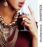rich brunette woman with a lot... | Shutterstock . vector #364895828