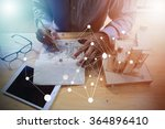 architecture working with... | Shutterstock . vector #364896410