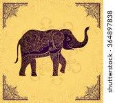 Indian Elephant In Golden...