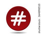 hashtags icon  vector... | Shutterstock .eps vector #364898510
