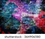 Graffiti Rough Brick Wall