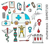 set color  medical symbols and... | Shutterstock .eps vector #364907150