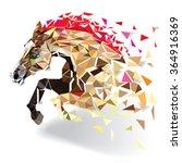 horse in geometric pattern... | Shutterstock .eps vector #364916369
