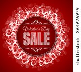 valentines day sale. sale label ... | Shutterstock .eps vector #364926929