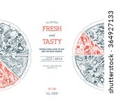 pizza design template. vector...   Shutterstock .eps vector #364927133