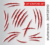 cat claws scratches on... | Shutterstock .eps vector #364928540