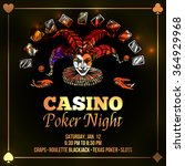 joker poster with casino and... | Shutterstock .eps vector #364929968