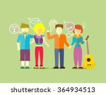 friends team people group flat... | Shutterstock . vector #364934513