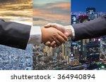 business men shaking hands in