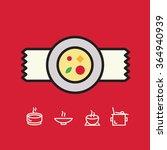soup plate. soup icon set.... | Shutterstock .eps vector #364940939