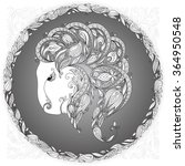 zodiac sign capricornus. this...   Shutterstock .eps vector #364950548