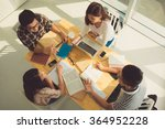 group of students discussing... | Shutterstock . vector #364952228