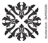vintage baroque frame scroll...   Shutterstock .eps vector #364960286