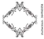 vintage baroque frame scroll... | Shutterstock .eps vector #364960358