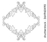 vintage baroque frame scroll... | Shutterstock .eps vector #364960490