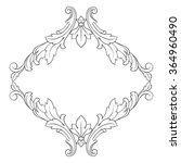 vintage baroque frame scroll... | Shutterstock .eps vector #364960490