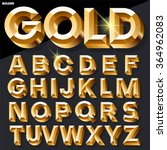 Shining Vector Golden Alphabet...