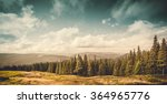 summer landscape. mountain path ... | Shutterstock . vector #364965776