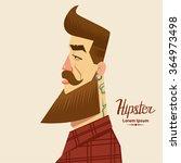 cartoon character  hipster... | Shutterstock .eps vector #364973498