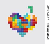 valentines day card. video game ... | Shutterstock .eps vector #364987604