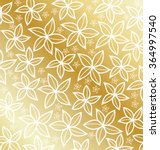 gold classic flowers pattern... | Shutterstock .eps vector #364997540