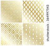 royal gold geometric pattern... | Shutterstock .eps vector #364997543