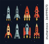 space rockets vector icons set... | Shutterstock .eps vector #364999070