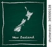 scribble vector map of new... | Shutterstock .eps vector #365000138