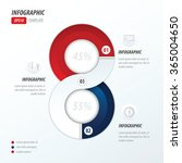 eight circle infographic 2... | Shutterstock .eps vector #365004650