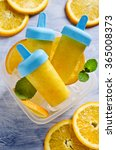 homemade fruit popsicle with... | Shutterstock . vector #365008373