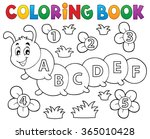 coloring book caterpillar with... | Shutterstock .eps vector #365010428