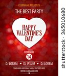 valentines day party flyer... | Shutterstock .eps vector #365010680