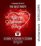 valentines day party flyer... | Shutterstock .eps vector #365012090