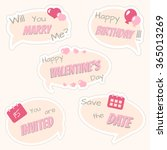 cloud conversation stickers... | Shutterstock .eps vector #365013269