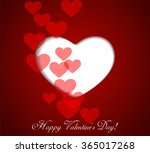 greeting card with abstract... | Shutterstock .eps vector #365017268